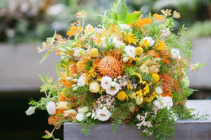 Hochzeitsblume Herbst Nadelkissenprotea Friedatheres Com