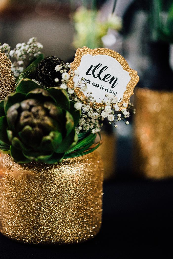 Hochzeit gold schwarze Deko (12)