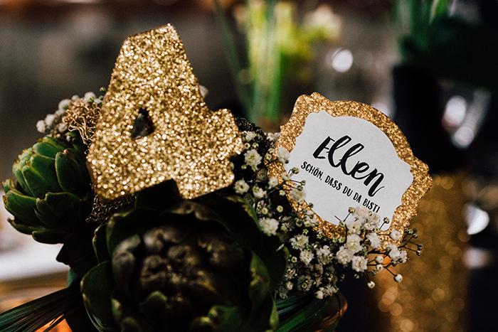 Hochzeit gold schwarze Deko (15)