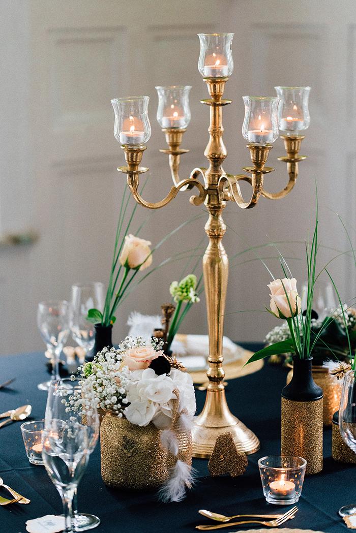 Hochzeit gold schwarze Deko (2)