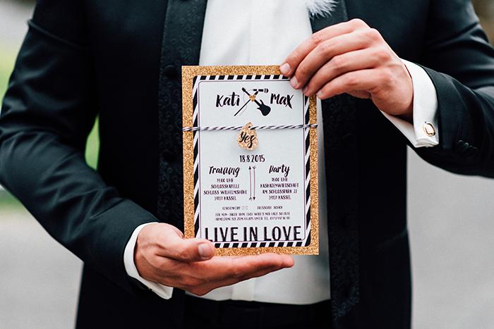 Hochzeit gold schwarze Deko (85)