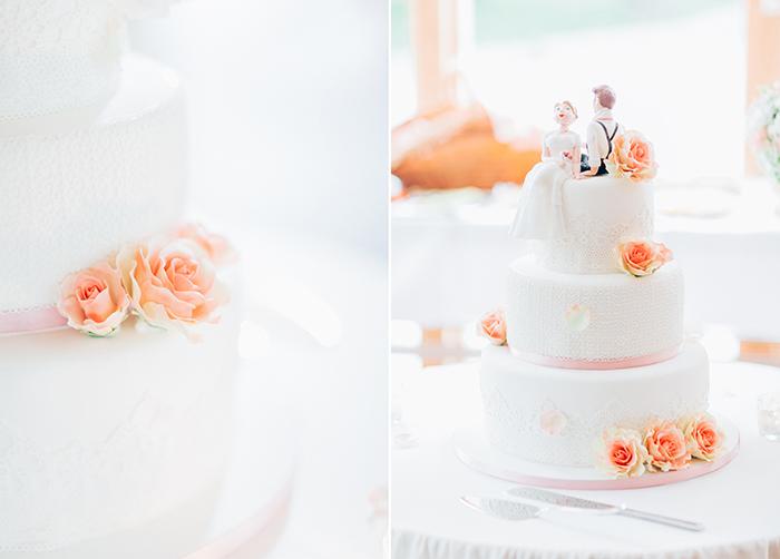 Hochzeitstorte mit Figur