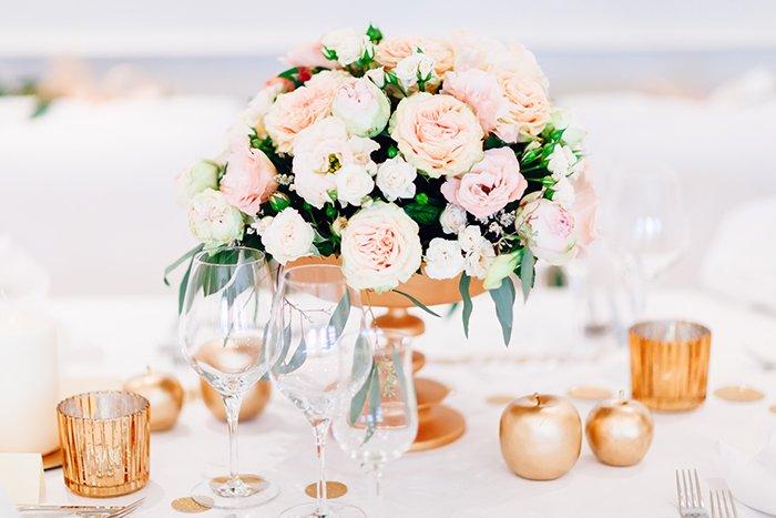 Hochzeit In Gold Und Rosa Friedatheres Com