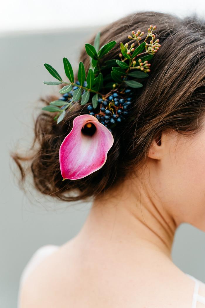 Blumen im Haar Braut