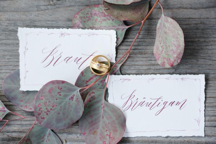 Braut und Braeutigam Schild