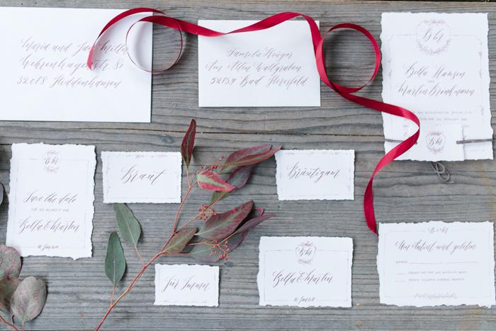 Hochzeitskarten Kalligrafie (1)