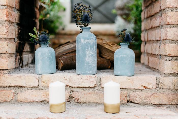 Kerzendeko Hochzeit