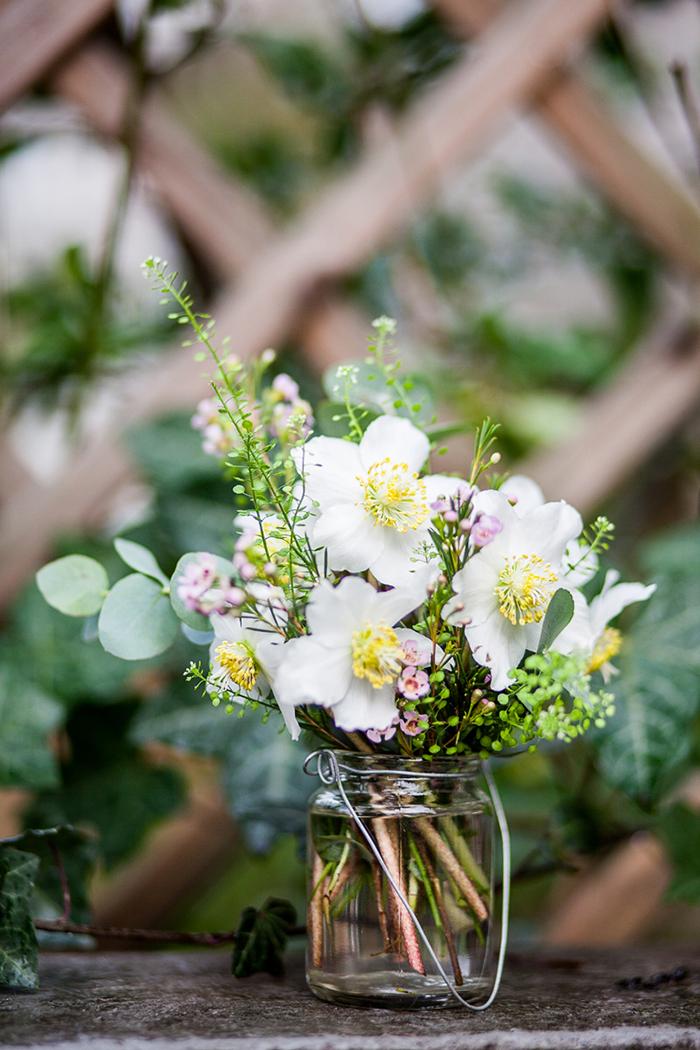 Vintagehochzeit Blumen