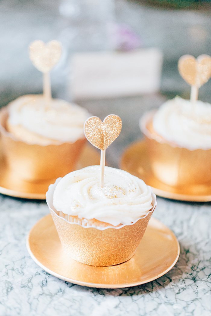 goldene cupcakes