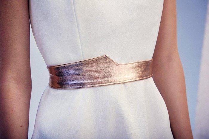 goldener Guertel Brautkleid