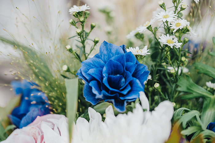 Blauer Brautstrauss (2)