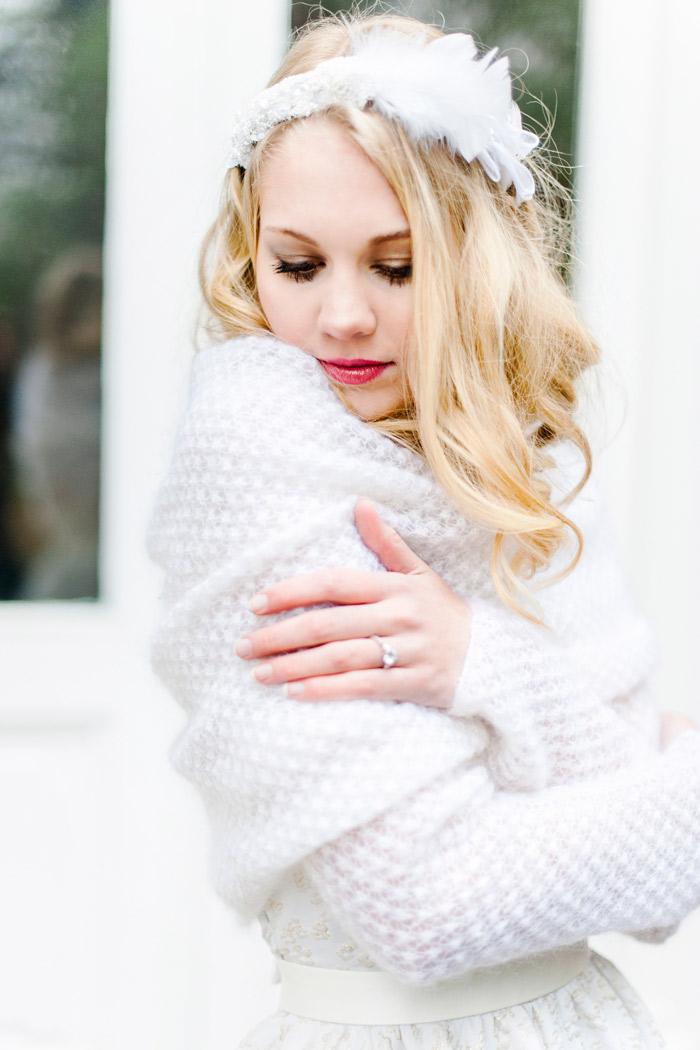 Brautkleid mit Pullover (2)