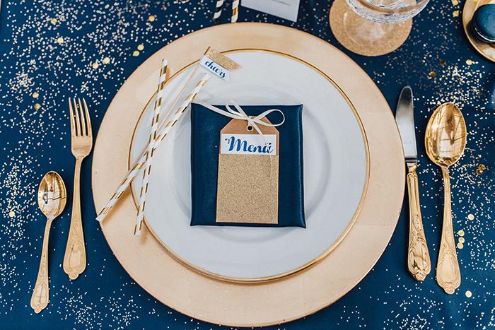 Ideen f r blaue details bei der hochzeit for Hochzeitsdeko gold