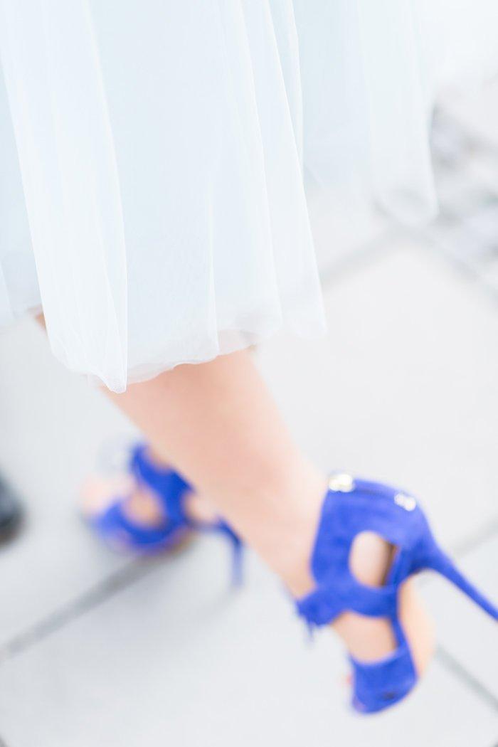 blaue Pumps