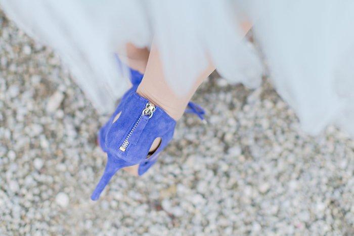 blaue Schuhe Braut