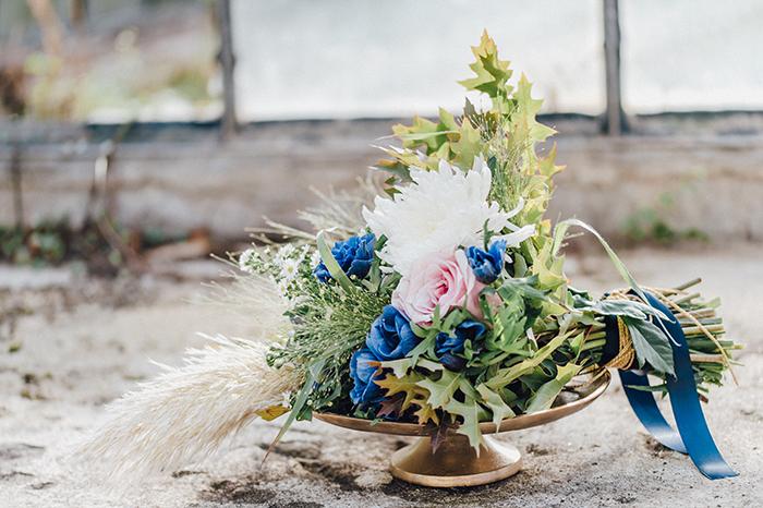 blaue hochzeitsblumen