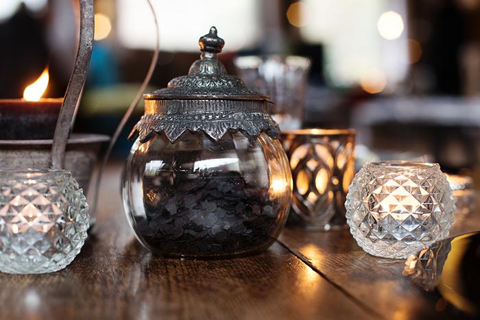schwarze Tischdeko Hochzeit (10)