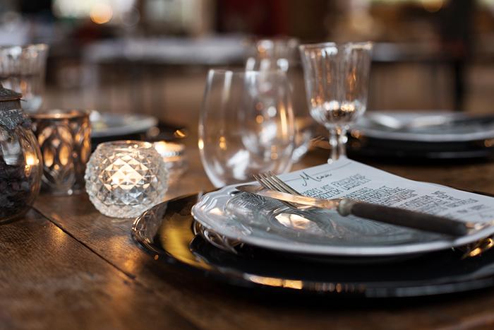 schwarze Tischdeko Hochzeit (4)