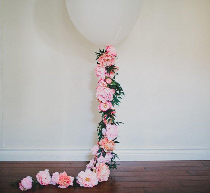 Blumengirlande Ballon