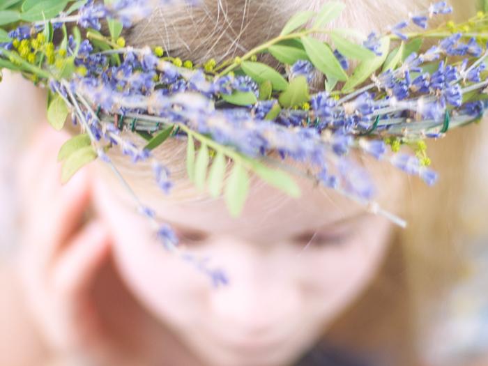 Blumenkranz Lavendel