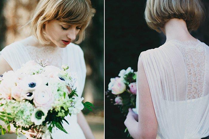 Braut mit kurzen Haaren