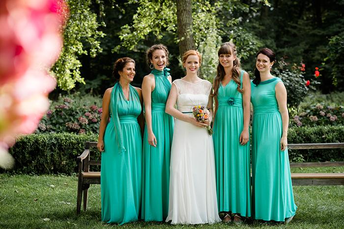 Brautjungfernkleid gruen