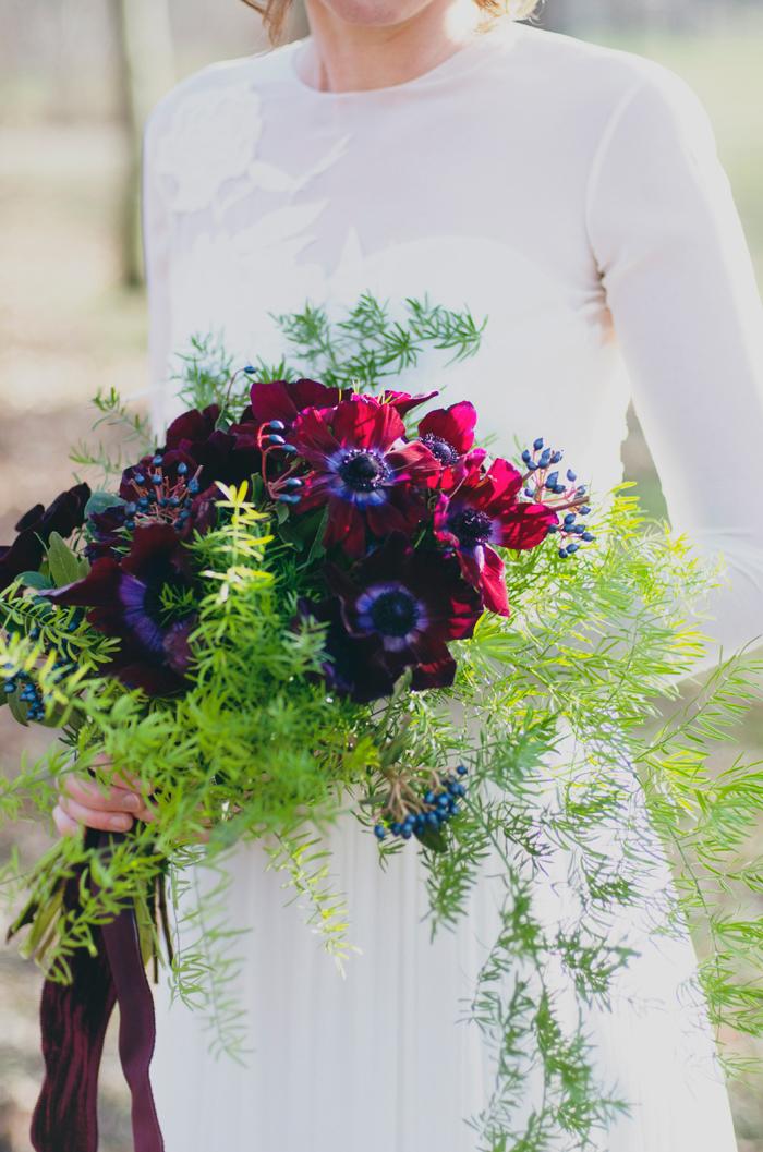 Brautstrauss lila gruen