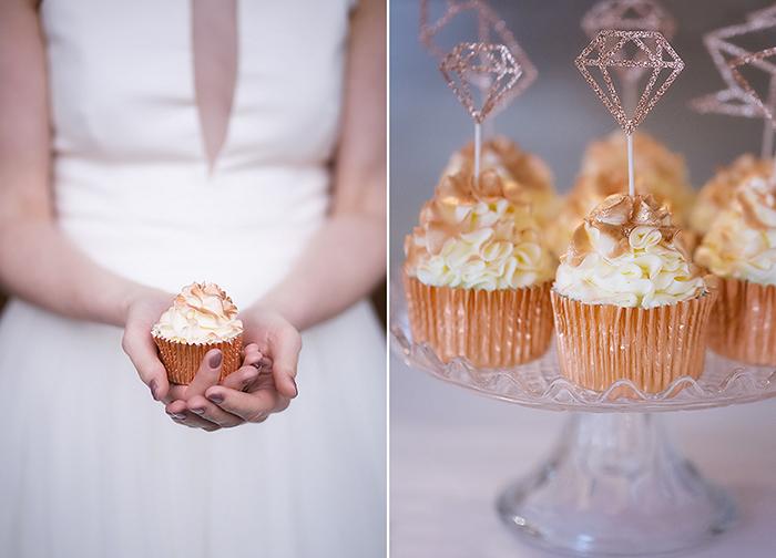 Cupcakes gold