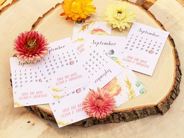 Einladungskarten Hochzeit mit Blumen (1)