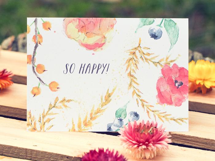 Einladungskarten Hochzeit mit Blumen (3)