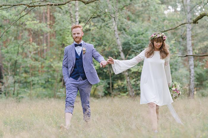Hippie Brautpaar
