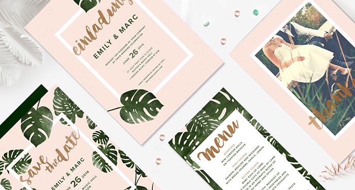 Hochzeitseinladung mit Palmen (3)