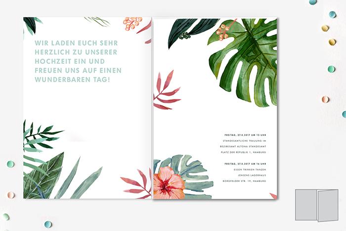 Hochzeitspapeterie Hibiskusblume (3)