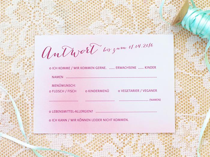 Rosa Hochzeitskarten (2)