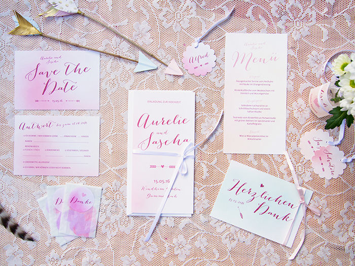 Rosa Hochzeitskarten (4)