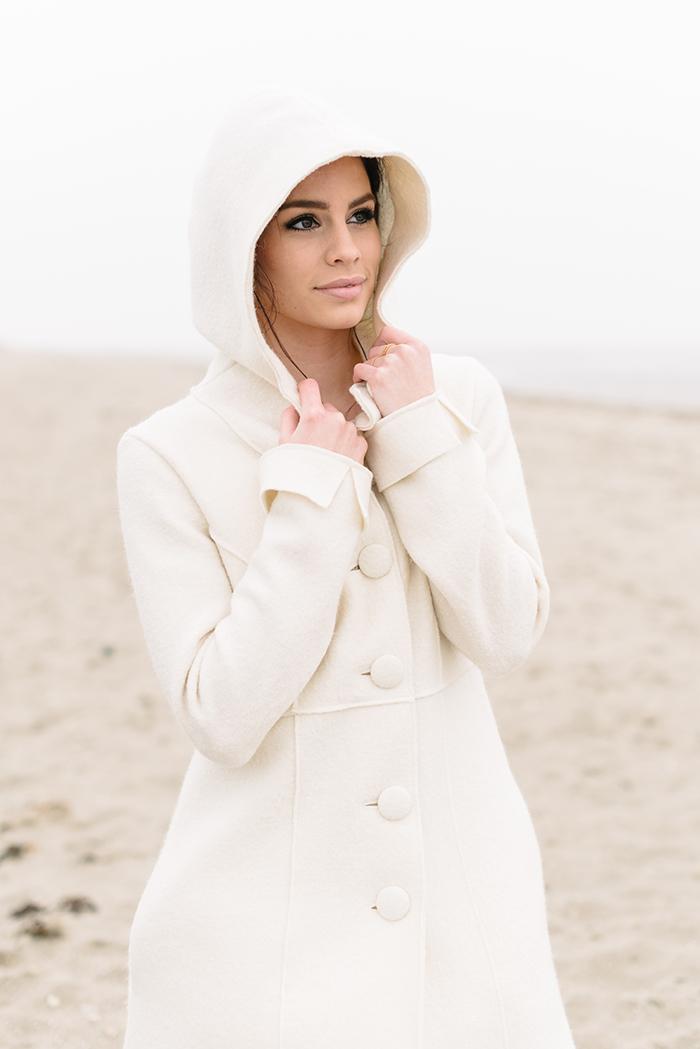 Warme Jacke zum Brautkleid