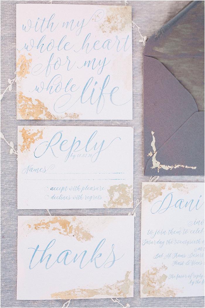 goldene Einladungen Hochzeit (3)