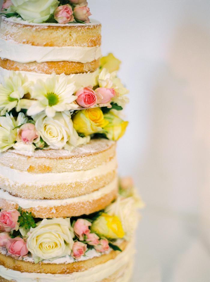 naked cake gelb