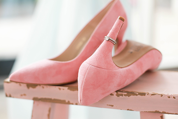 rosa Brautschuhe