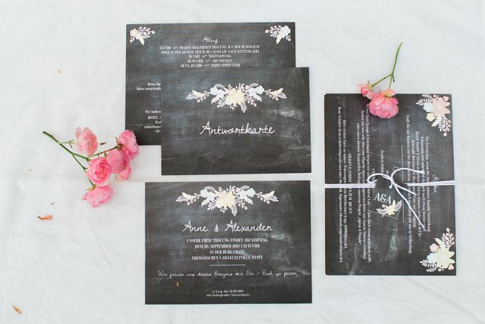 schwarze Papeterie Hochzeit (1)