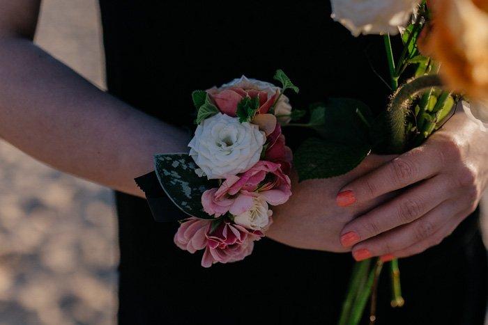 Blumenarmband Brautjungfer