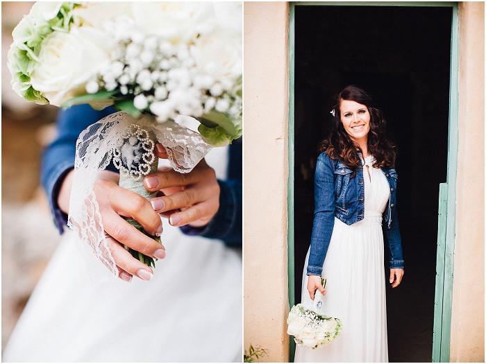 Braut mit Jeansjacke