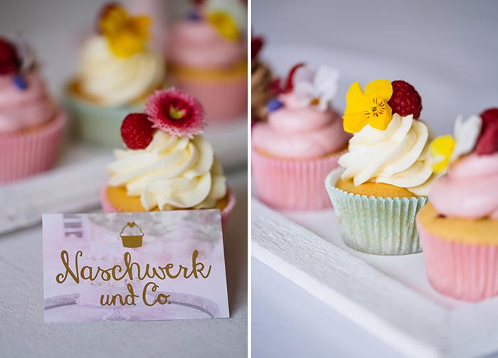 Cupcakes mit Blumen