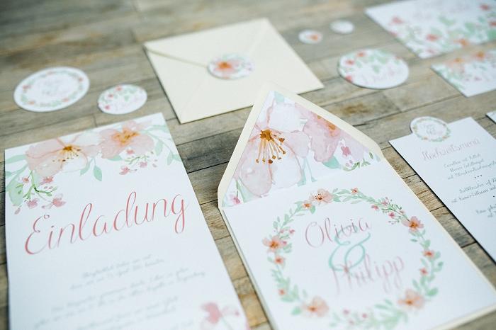 Hochzeitseinladung Blumenmuster (6)