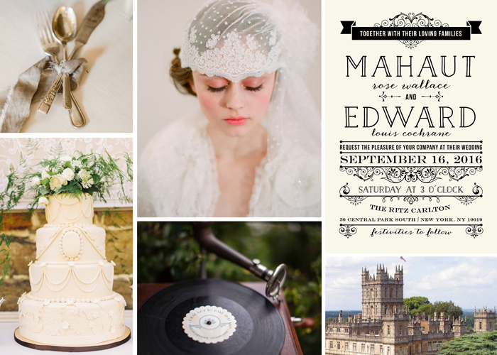 Hochzeitseinladungen 20er Jahre (1)