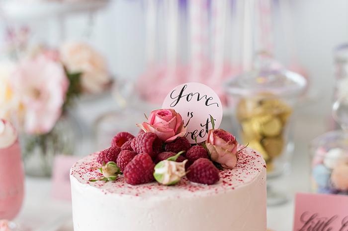 Hochzeitstorte Himbeere