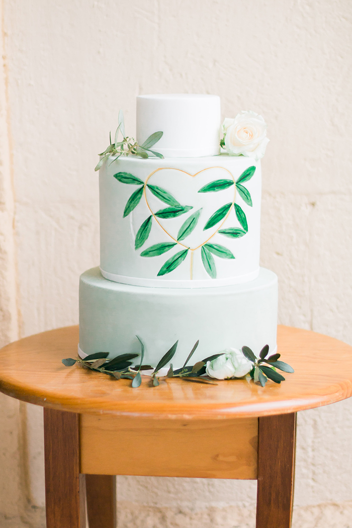 Hochzeitstorte Olivenzweige (2)