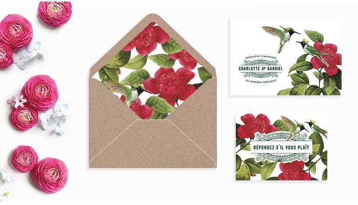 Papeterie Hochzeit Blumen (2)