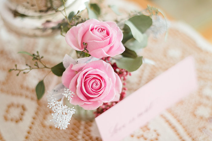 Rosa Hochzeitsdeko (3)