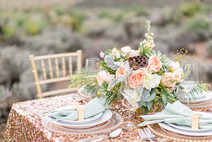 Tischdecke Gold Hochzeit (1)